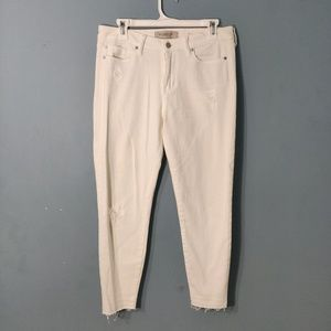 Liverpool Jeans Company THE CROP White Denim Jeans